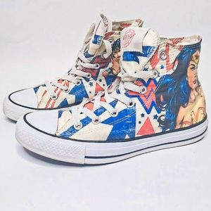 LIMITED ED WONDER WOMAN HIGH TOP CONVERSE 7.5 NWOT